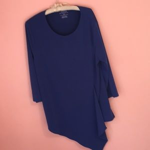 Chico's top, blue, size 1, NWT